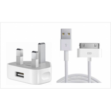 Original Apple iPhone Plug head & cable for iPhone 4 & 4s